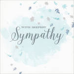 Sympathy Card Velvet Ink Leaves