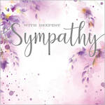 Sympathy Card Velvet Ink Purple