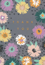 Thank You Card Pastel Flowers