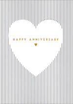 Anniversary Card Happy Stripes