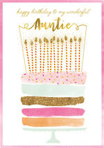 Aunt Birthday Card Pastel Cake