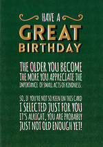 Gold Have A Great Birthday