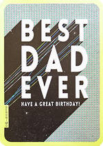 Dad Birthday Card Geronimo Best Ever