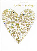 Wedding Card Sara Miller Gold Heart