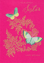 Sister Birthday Card Sara Miller Butterflies