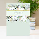Amy Louise Birthday Mint Floral