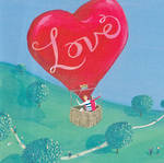 Love Card Hot Air Balloon