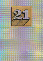 Birthday Age Card 21 General Cosmos Holographic