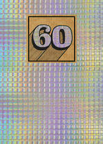 Birthday Age Card 60 General Cosmos Holographic