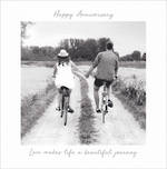 Anniversary Card Travelogue On Bikes