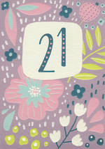 Birthday Age Card 21 Female Seville Flower