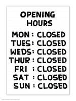 Postcard Opening Hours