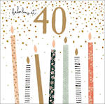 Birthday Age Card 40 Female Jade Mosinki