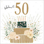 Birthday Age Card 50 Female Jade Mosinki