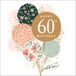 Birthday Age Card 60 Female Jade Mosinki