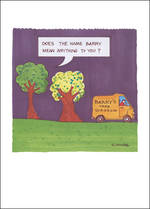 Blank Card Funny Plant Lives Barry Tree Surgeon