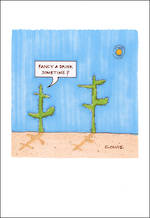 Blank Card Funny Plant Lives Fancy a Drink