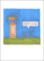Blank Card Funny Plant Lives Place Like That