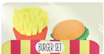 Novelty Eraser Set Small Burger