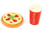 Novelty Eraser Set Small Pizza
