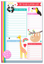 Happy Zoo To Do List Pad