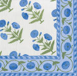Cocktail Napkins Caspari Indian Poppy Blue