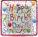 Paper Plates Side Plate Happy Birthday Square