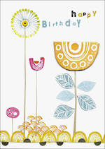Woodblock Birthday Flower