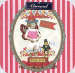 Blank Card Female Carousel Party Girl
