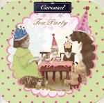 Blank Card Female Carousel Tea Party