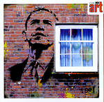 Blank Card General Graffiti Obama