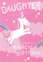 Daughter Birthday Card Kith & Kin Unicorn