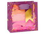 Small Gift Bag Paper Salad Geo Purple
