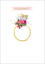 Engagement Card Bella Ring With Flowers