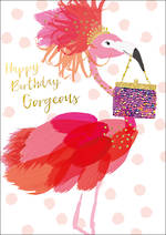 Bubbly Birthday Pink Flamingo