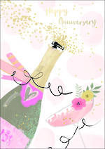 Anniversary Card Bubbly Happy Anniversary