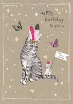 Fancy Pants Birthday Cat & Mouse