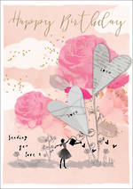 Love Letters Birthday Pink Roses