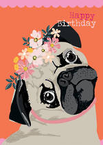 Woof Woof Birthday Pug