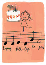Quirky Birthday Musical Notes