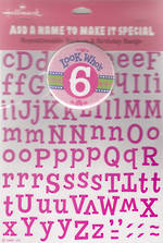 Birthday Age Card 6 Girl New Badge Candy
