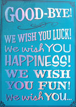 Jumbo Card Hallmark Colossal Goodbye We Wish