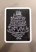 Jumbo Card Hallmark Colossal Birthday Silver