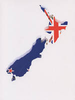 Pure NZ Kiwiana NZ Flag Map