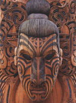 Pure NZ Kiwiana Maori Carving Face