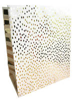 Medium Gift Bag Gold Foil White