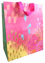 Large Gift Bag Female Painterly Pink