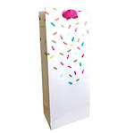 Bottle Gift Bag Female Confetti White