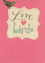 Engagement Card Hallmark Love Birds