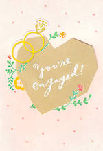 Engagement Card Hallmark Diecut Heart